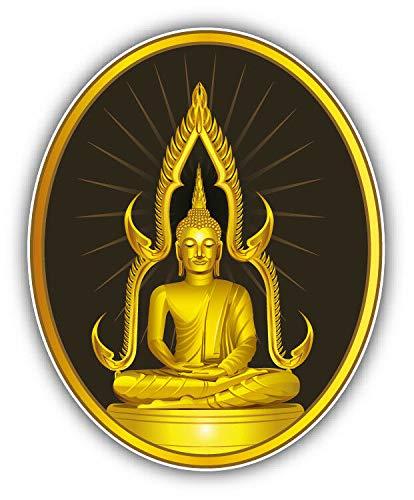 MAGNET Thai Sitting Buddha Statue Label Vinyl Magnet Bumper Refrigerator Sticker Magnet Flexible Reuseable Magnetic Vinyl 5'