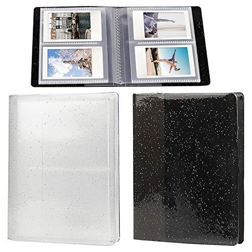 Mini album photo pour Fujifilm Instax Mémo Pochette de rangement Organiseur de protection pour tous les modèles de Fujifilm Mini- Blanc et noir