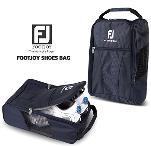 FootJoy Genuine Golf Shoes Bag Zipped Sports Bag Shoe Case - Navy Color
