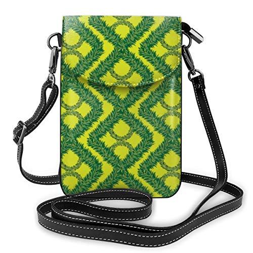 Goxegag Schutzhülle aus Leder für Multifunktions-Handy, leicht und elegant, Schultergurt und verstellbarer Schulterriemen – quadratische Lichterkette