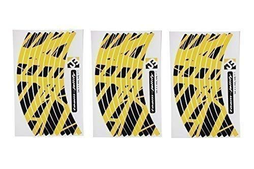 JOllify Felgenrandaufkleber Special Edition für Dein Fahrrad, MTB, Downhill, Freeride, Dirt, Fully, Hardtail, usw. - GELB