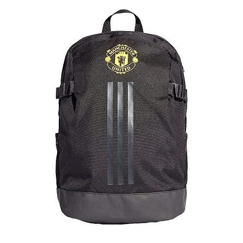 adidas MUFC BP, Zaino Sportivo Unisex – Adulto, Black/Solid Grey/Bright Yellow, NS