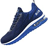 Impdoo Mens Air Athletic Running Sneaker Cute Fitness Sport Gym Jogging Tennis Shoes (Darkblue US 10.5 B(M)