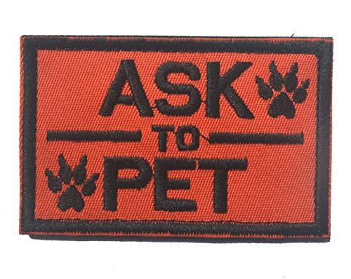 Ohrong Vraag aan Pet Tracker Paws Geborduurde Patches Tactische Badge Embleem Applique voor Tactische Hond Huisdier Vest Harnassen met Haak & Lus ORANJE