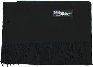 Black Wholesale Lot Unisex 100% CASHMERE SCOTLAND Scarf Pure Solid Colored Super Soft 6 pcs #CPAS