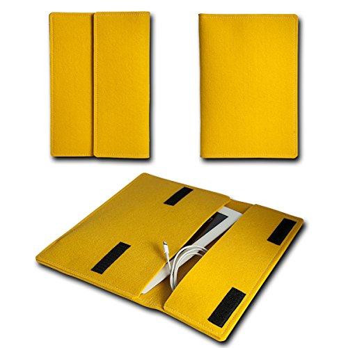 sw-mobile-shop Filz Book Style Lenovo Tablet A7-40 - 7 Zoll Filz Tablet Tasche Hülle Etui Einschubtasche passgenau für Lenovo Tablet A7-40 - 7 Zoll - Farbe gelb