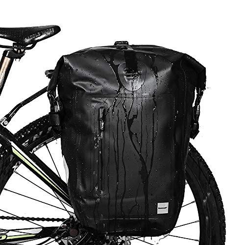 Selighting Borsa Bicicletta Posteriore Cremagliera 25L Impermeabile Borsa Bici Multifunzionale Pacchetto Zaino Borsa da Bicicletta per Viaggio