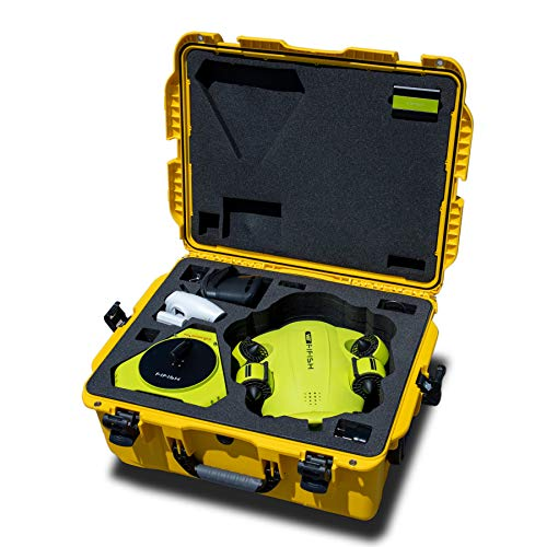 Professional case with wheels for Underwater Drone FIFISH V6 and FIFISH V6S Yellow QYSEA 8500523