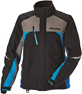 Polaris Pro Snowmobile Jacket GoreTex Waterproof Uninsulated Shell 3M Reflective - Gray/Blue - Medium