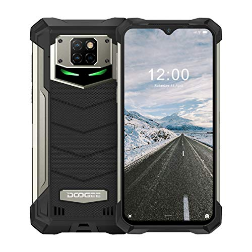 Rugged Smartphone, DOOGEE S88 Plus Android 10, 8GB+ 128GB, 48MP + 8MP Cameras, 10000mAh Battery, 6.3 inches FHD+ Waterdrop Screen, IP68 Waterproof Mobile Phone, 4G Dual SIM, NFC/GPS - Mineral Black
