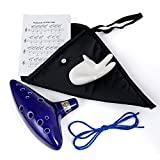 Legend of Zelda Ocarina, WoneNice 12 Hole Alto C Ocarina (12 Hole Ocarina with Stand)