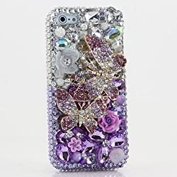 Double Butterflies in Silver and Purple Background iPhone 6 Plus Case