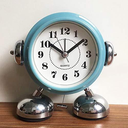 Robot Ringing kleine schattige wekker Cartoon Night Light Blue