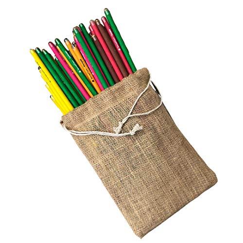 Sow and Grow Caja De 50 Lápices De Semillas Plantables |Paquete De Regalo Ecológico |Envasado A Granel En Bolsa De Yute |Cultivar Plantas A Partir De Lápices