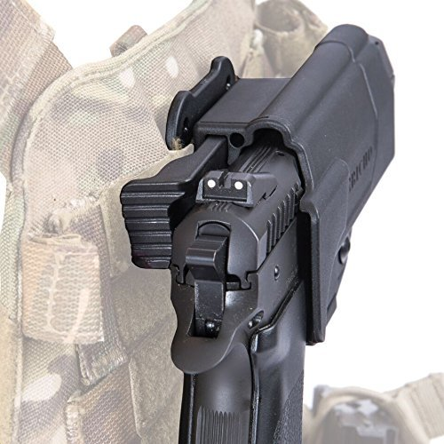 Orpaz G19 Holster Compatible with Glock 19 Holster, Right-Hand Modular OWB Holster (Level II Retention, MOLLE Holster)