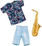 Barbie Clothes -- Career Outfits for Ken Doll, Musician Look with Saxophone, Multi