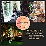 Dekopia Solar Wind Chimes 8 Hummingbird Outdoor Decor Color Changing Light Sensor Solar Power eco Friendly Easy to use… 6