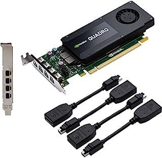 PNY VCQK1200DP-PB NVIDIA Quadro K1200 4GB - Tarjeta gráfica (NVIDIA, Quadro K1200, 4096 x 2160 Pixeles, 4 GB, GDDR5-SDRAM, 128 bit)