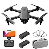 JJDSN Mini 4K Drone with Dual Camera for Kids Adults, 2.4G WiFi FPV Live Video RC Quadcopter, Gravity Sensor Control, Altitude Hold, for AndroidiOS (2Battery)