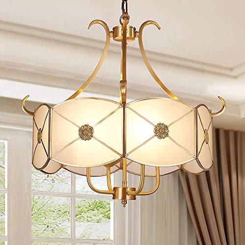 Candelabro - Candelabros de cobre minimalistas modernos estadounidenses para la sala de estar del restaurante del estudio del dormitorio 46 cm * 52 cm fuente de luz E14 * 4 Buen material