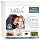 SafeRest Premium Zippered Mattress Encasement - Lab Tested Bed Bug Proof, Dust Mite and Waterproof - Hypoallergenic, Breathable, Noiseless and Vinyl Free (Fits 9-12 in. H) - King Size