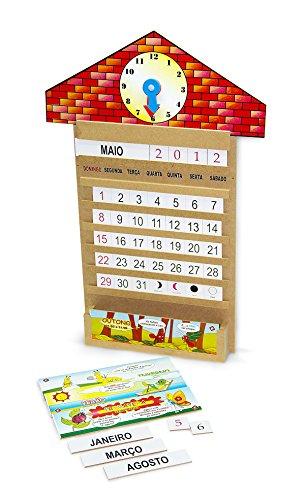 Calendário Relógio Carlu Brinquedos
