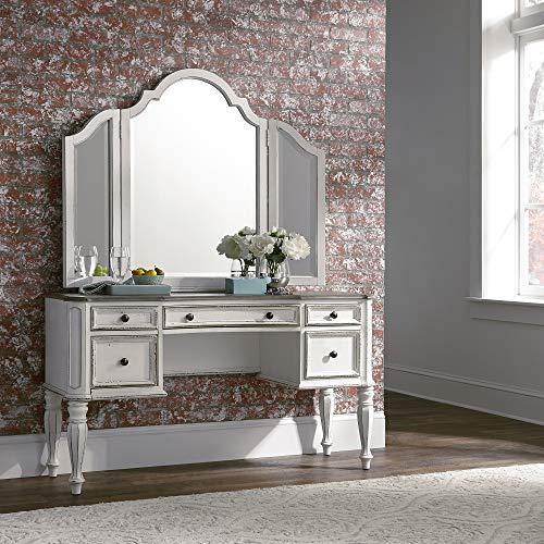 Liberty Furniture Industries Magnolia Manor Vanity Desk, W54 x D18 x H30, White