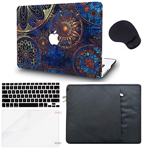 LuvCase 5in1 Laptop Case for Old MacBook Pro 13' Retina Display (2015/2014/2013/2012) A1502/A1425 Hard Shell Cover, Sleeve, Mouse Pad, Keyboard Cover and Screen Protector (Bohemian)