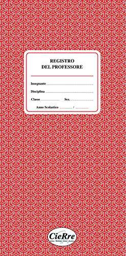 REGISTRO DEL PROFESSORE - F.to 16,5x34 cm (2 classi)