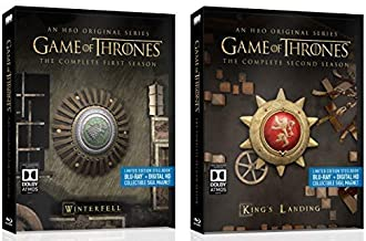 Game of Thrones: Season 1 & 2 Limited Edition Blu-Ray Steelbook Bundle with Collectible Sigil Magnets