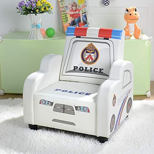 Kindersofa unieke auto kleine sofa leuke baby-mini kinderstoel lederen sofa mini sofa van leer wit 001