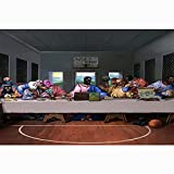 DFRES úLtima Cena Leonardo Da Vinci Pinturas Al óLeo Famosas Poster E Impresiones Retro Religiosos Lienzo Divertido Arte De La Pared Decoracion De La Pared De La HabitacióN Cuadros 60x90cm Sin Marco
