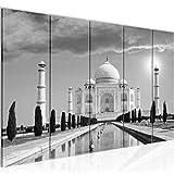 Tabla Decoración mural de la India Taj Mahal - 200 x 80 cm Vista de impresión en lienzo Salón Apartamento - listo para colgar - 600555c
