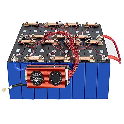 4PCS Batería original Lifepo4 3.2v 100AH Celda de fosfato de hierro y litio 12V 100AH Baterías de ciclo profundo con 4S 12V 150A BMS y BT, RV DIY Baterías de coche,4pcs 3.2v 100ah + 12v 150a bms