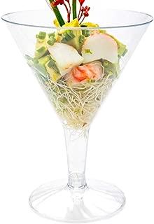 Plastic Martini Glass, Disposable Martini Glasses - Crystal Clear Premium Plastic - 7.5 oz - 100ct Box - Restaurantware