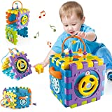 Activity Cube Toys for Toddlers 12-18 Months,Babies Toys for 1 Year Old Play Center, 6-in-1 Early Educational Musical Toys Baby Toys for 6-12 Months, Best Gift for 1 2 3 Years Old Boys and Girls
