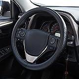 FMS Couvre Volant Cuir 37-38 cm Housse de volant Intérieur de l'automobile Accessoires, Durable,...