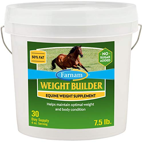 Farnam Weight Builder Equine Weight Supplement 7.5 Pound, 30 Day Supply