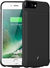 Battery Case for iPhone 7 Plus/8 Plus/6 Plus/6s Plus,7000mAh FNSON Portable Protective Charging Case Compatible with iPhone 7 Plus/8 Plus/6 Plus/6s Plus (5.5 inch) Rechargeable Extended Battery-Black