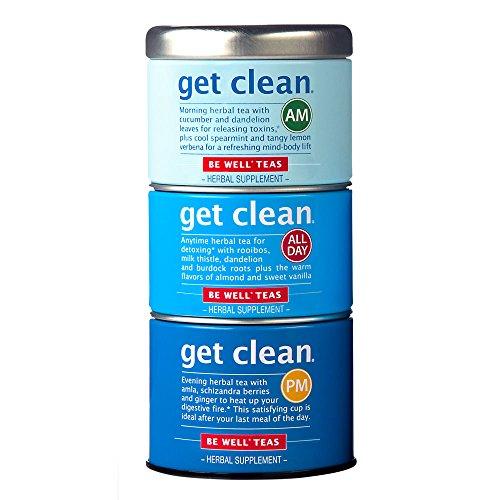 The Republic of Tea Get Clean Stackable Tea, Herbal Tea, Non-Caffeinated, Detox Tea, 42 Tea Bags