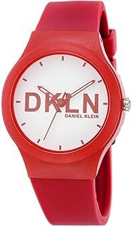 DANIEL KLEIN DKLN Plastic Case Silicon Band Ladies Wrist Watch - DK.1.12411-2