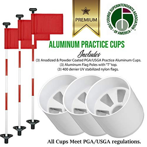 Review Golf City Products Golf Flag and Cup for Yard Practice Set, Mini Putting Green Flags and Pole...