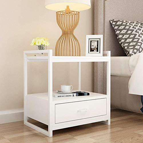 Zuzanny Modern gietijzer gouden nachtkastje woonmeubelen nachtkastje kast woonkamer geschikt voor slaapkamer- en woonkamermeubels Zuiver wit.