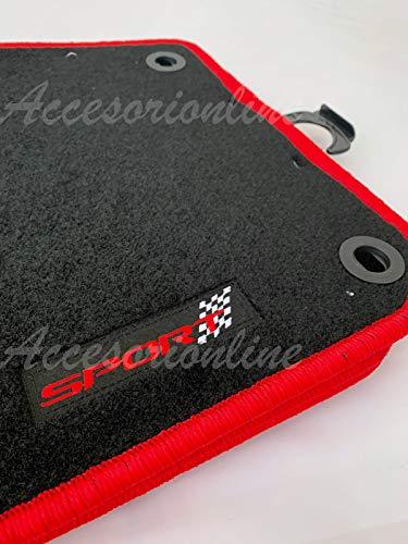 Accesorionline Alfombrillas Seat Ibiza 2002-2008 alfombras 6L Bordes Rojos Sport