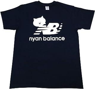 ニャンバランス 半袖 Tシャツ ブランド ネコ パロディー Mサイズ Lサイズ XLサイズ