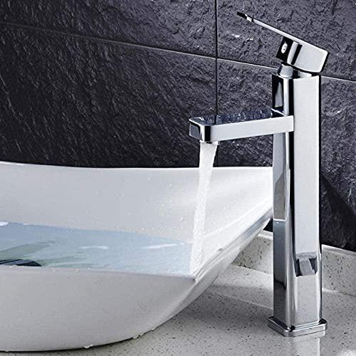 Baño grifo baño lavabo grifo cuadrado cobre contenedor fregadero grifo instalación cubierta