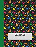Dinosaur Era - Primary Story Journal: Dotted Midline and Picture Space | Grades K-2 School Exercise Book | 120 Story Pages - Blue (Kids Jurassic Composition Notebooks)