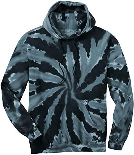 Joe's USA Hoodies Tie-Dye Hooded Sweatshirt,3X-Large Black Tie-Dye