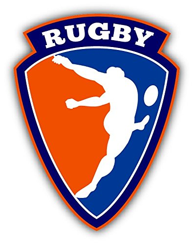 Rugby Sport Label Hochwertigen Auto-Autoaufkleber 10 x 12 cm