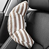 Seat Belt Pillow for Kids, Super Soft Headrest Neck Support Travel Pillow in Car, Universal Carseat Strap Cushion Pads for Child Baby Adults, Compatible with All Cars (Brown)